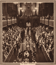 CORONATION 1937: Queen Elizabeth's Procession, Westminster Abbey, print 1937